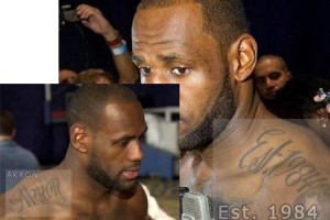 lebron james akron tattoo