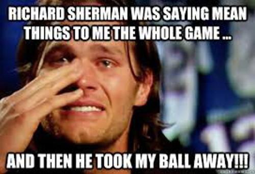 Richard Sherman Meme tom brady
