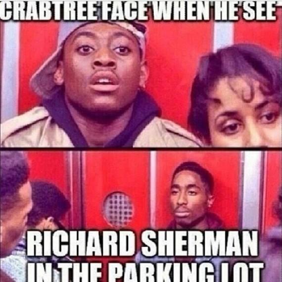 Richard Sherman Meme crabtree