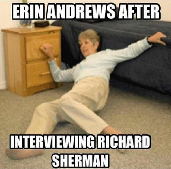 Richard Sherman Meme erin andrews interview