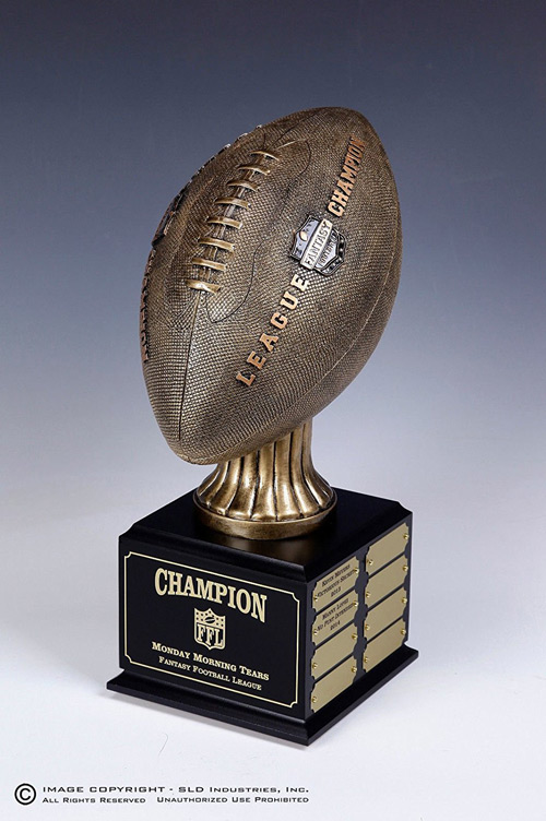 vintage fantasy football trophy